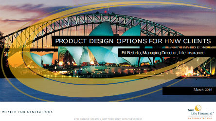 Product Design Options for HNW Clients