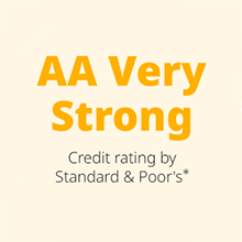AA Very StrongStandard & Poor's*